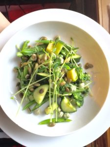 The Green Machine Salad with Avocado Vinaigrette